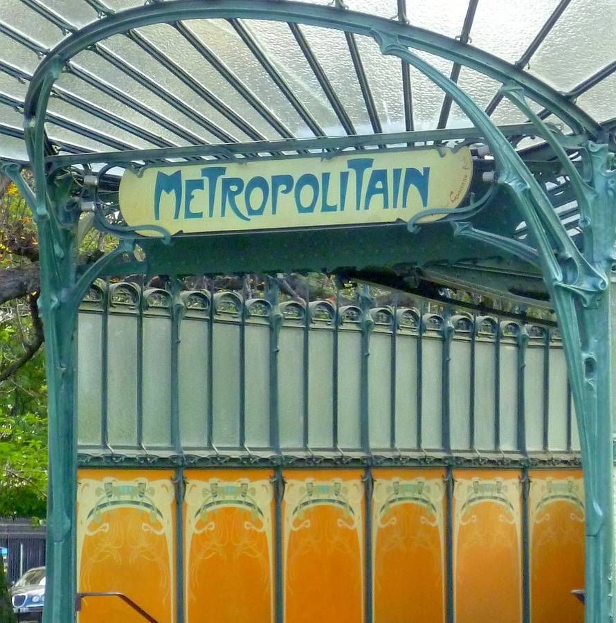 Porte Dauphine Metro terminus in Paris, by Hector Guimard (1867-1942)