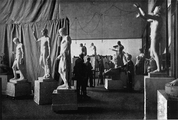 Glasgow School of Art; the Antique Room . 1900