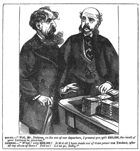 [Dickens and his American business manager]