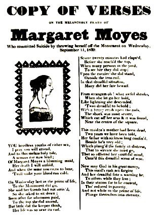 Copy of Verses on the Melancholy Death of Margaret Moyes