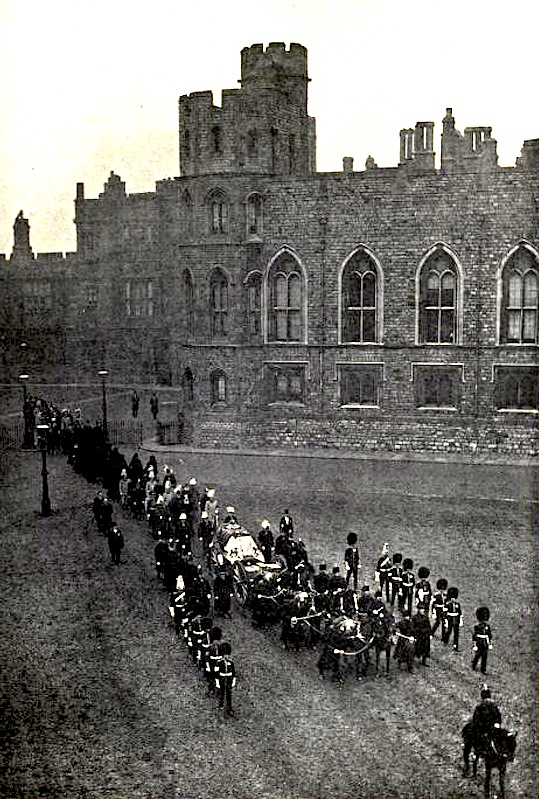 Queen Victoria S Funeral Leaving Windsor Castle For The Royal Mausoleum Frogmore Photo Rus In Ws Facing P 6
