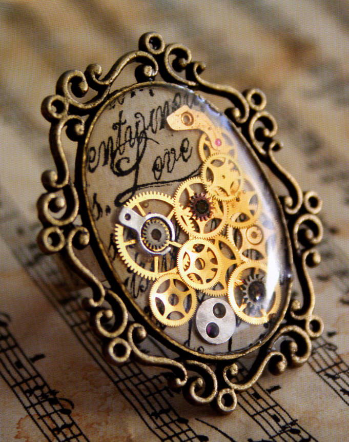 steampunk schmuck on pinterest steampunk gears and steampunk rings. Black Bedroom Furniture Sets. Home Design Ideas
