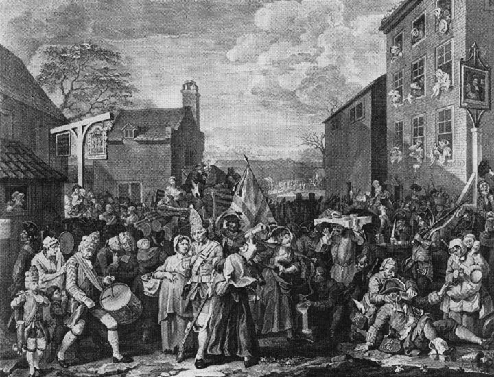 William Hogarth, The March to Finchley