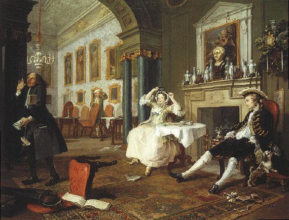 William Hogarth, Marriage A-la-Mode, scene 2.
