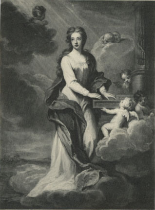 Lady Elizabeth Cromwell as Saint Cecilia