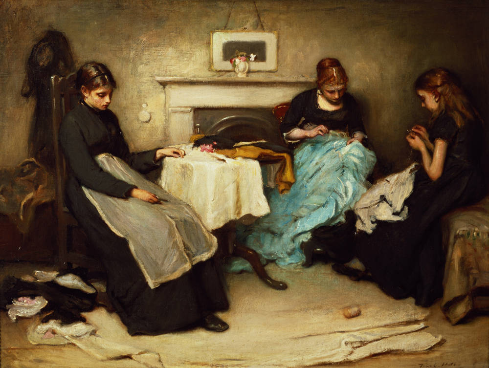 """Slaves of the Needle:"""" The Seamstress in the 1840s"""