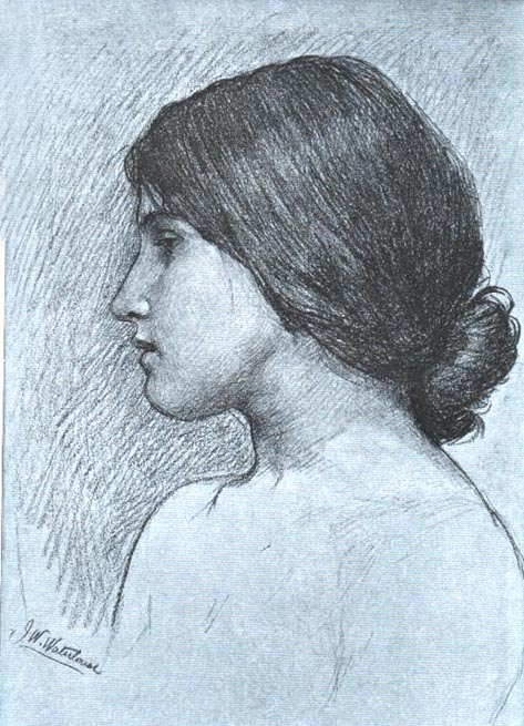 victorian-woman-profile-drawing