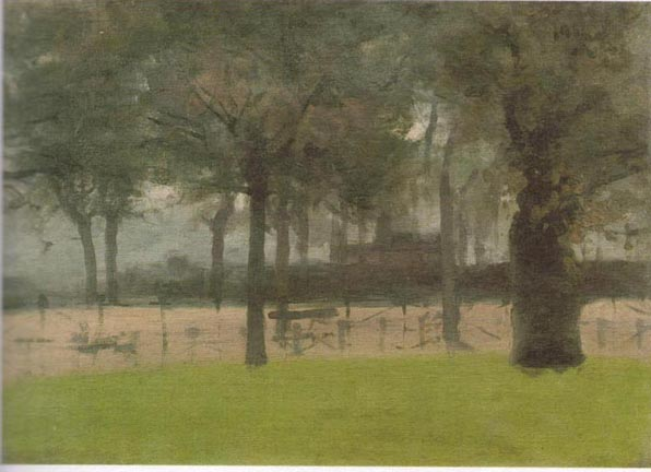 The Bandstand In Hyde Park Close Of The Day By Paul