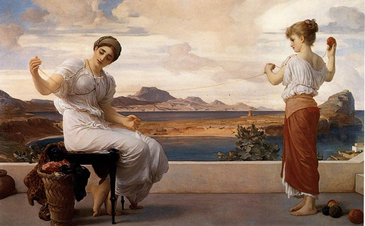 u0026quot winding the skein u0026quot  by frederic lord leighton  p  r  a