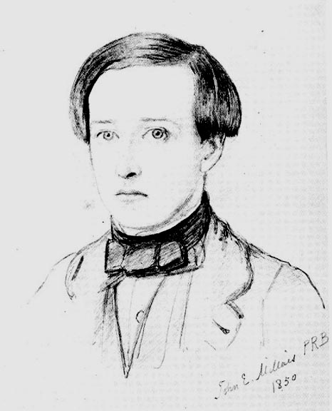 Millais sketch of Collins