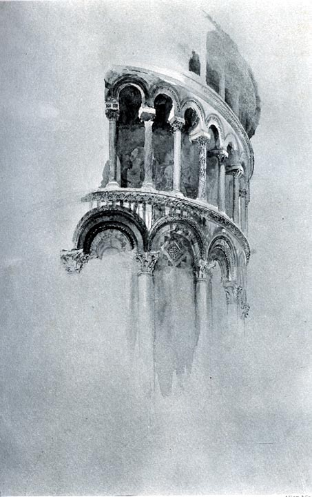 Arches of the apse of the duomo pisa by john ruskin for Printing architectural drawings