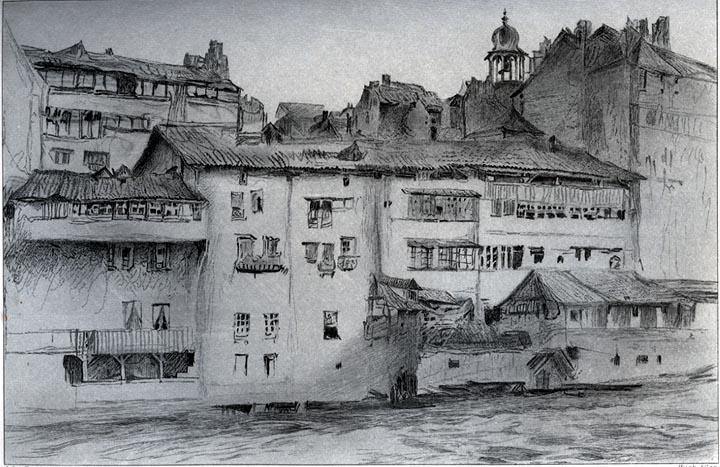 Casas antiguas en ginebra por john ruskin 1819 1900 - Fotos de casas antiguas ...