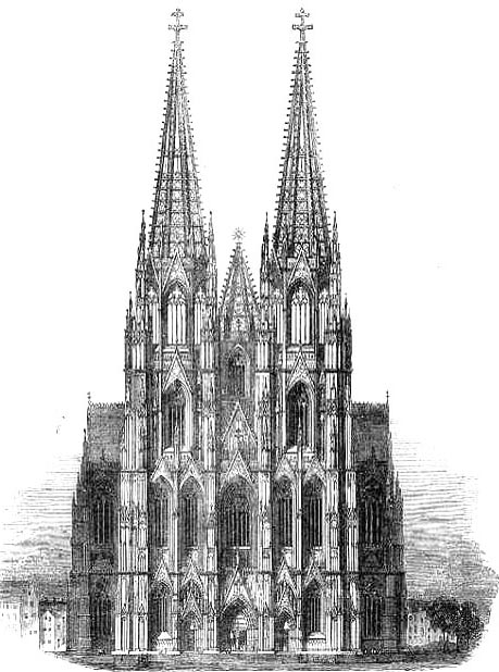 Cologne Cathedral Drawing The Cathedral of Cologne