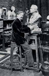 Gilbert in his studio