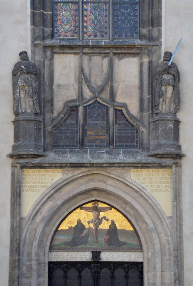 All Saintsu0027s Castle Church (Schlosskirche) on whose door Luther nailed his 95 Theses & All Saintsu0027s Castle Church (Schlosskirche) on whose door Luther ...
