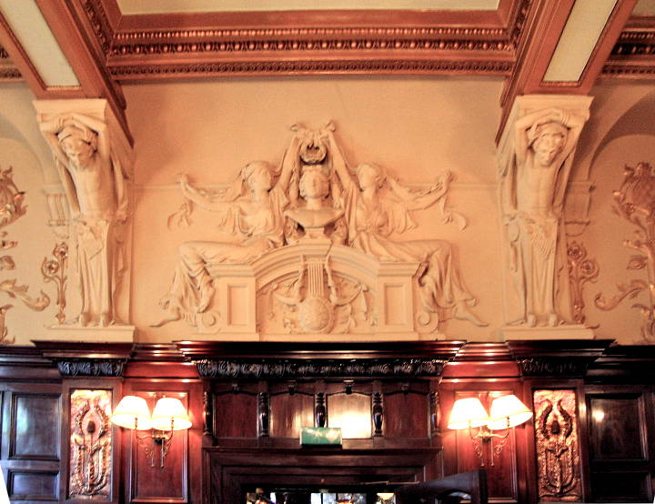 Apollo with Female Attendants by Charles John Allen  Main dining room   Philharmonic Hotel  Liverpool  Plaster. Apollo with Female Attendants  Philharmonic Hotel  Liverpool  by