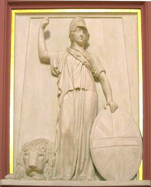 flaxman s britannia for lord north s monument by john