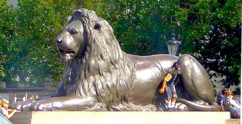 sir edwin landseer 39 s lions at the base of nelson 39 s column trafalgar square. Black Bedroom Furniture Sets. Home Design Ideas