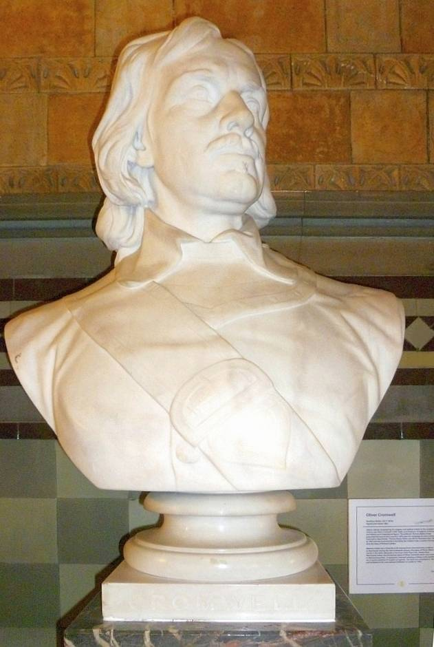 Bust of Cromwell in Manchester Town Hall
