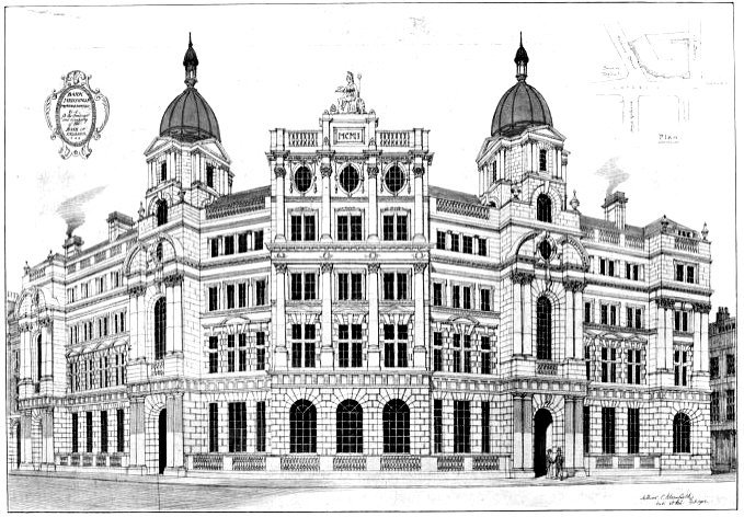 Bank Of England Sir Arthur Blomfield C 1901 Source 1901 Studio
