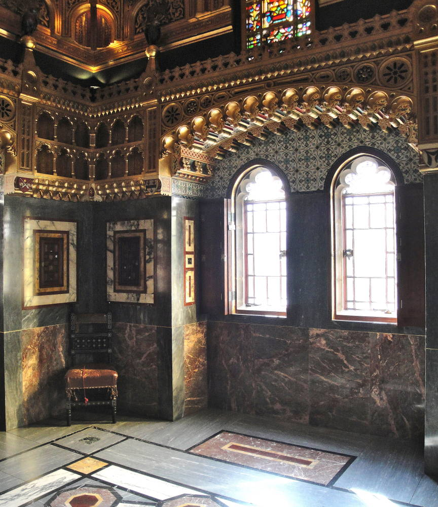 Cardiff castle interior cardiff south wales by william - The house in the old franciscan tower ...