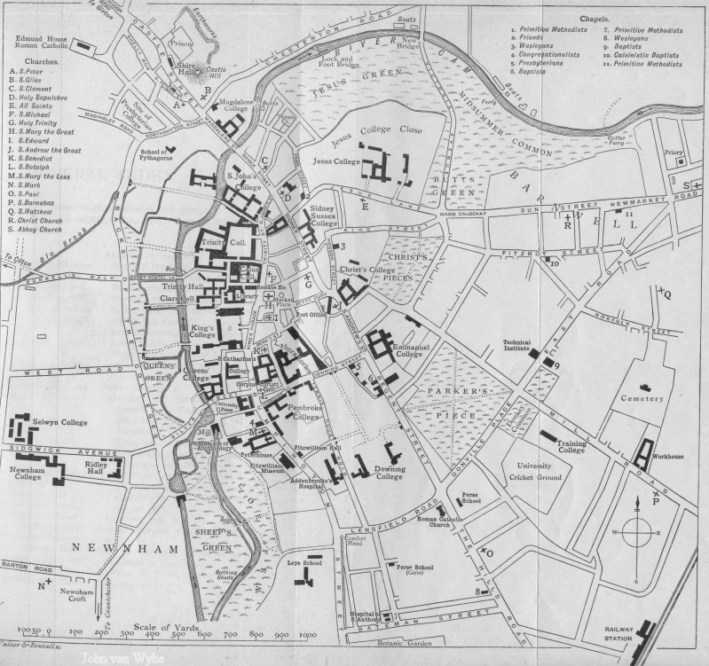 Map of Victorian Cambridge