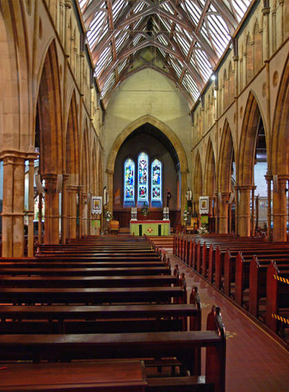St francis xavier catholic cathedral in adelaide australia for Interior architecture adelaide
