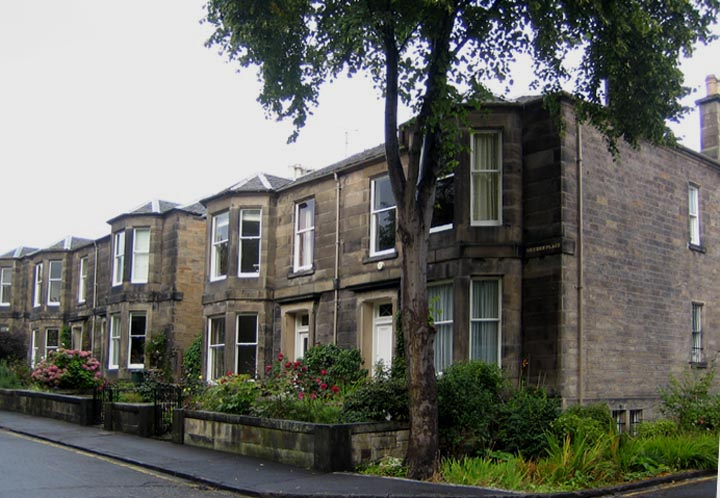Semi detatched houses with bay windows blacket street for Home edinburgh