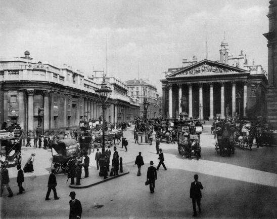 The Bank Of England And The Royal Exchange