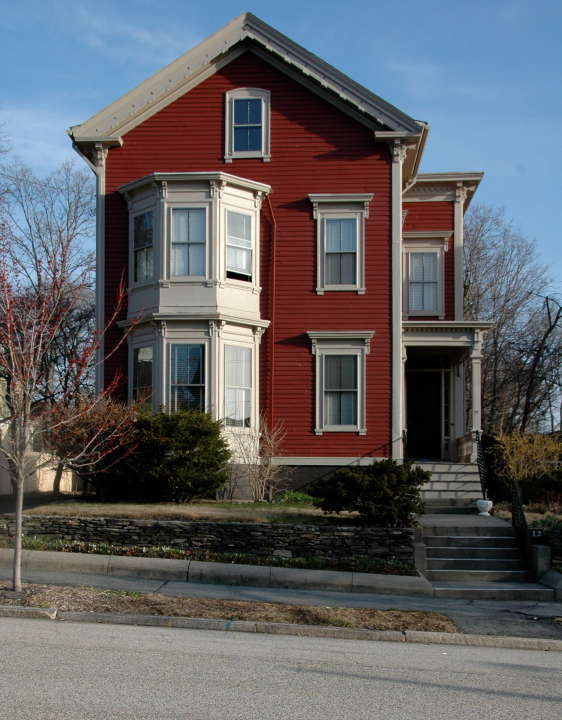 House with two story bay window providence rhode island for 1930s bay window construction