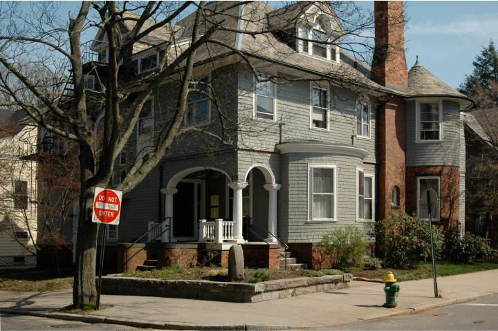 Angell Street In Providence Rhode Island