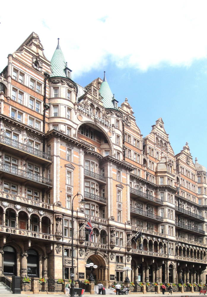 Hotel russell designed by c fitzroy doll for Hotels ussel