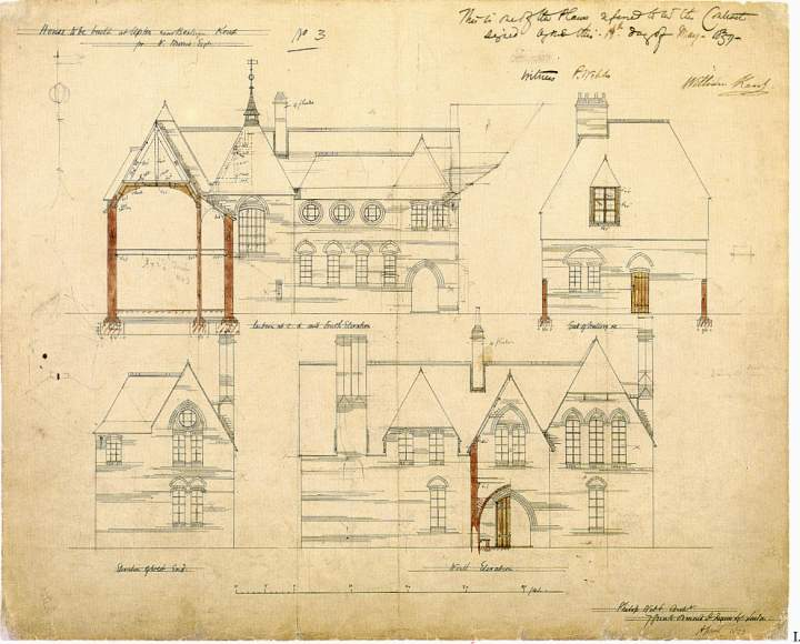 Architectural drawings for the red house by philip for Architectural drawings for houses