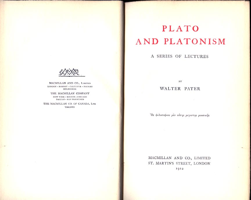 walter pater appreciations with an essay on style
