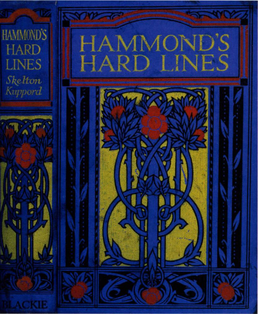 Book Cover Design Glasgow : Cover design for skelton kuppord s quot hamond hard lines