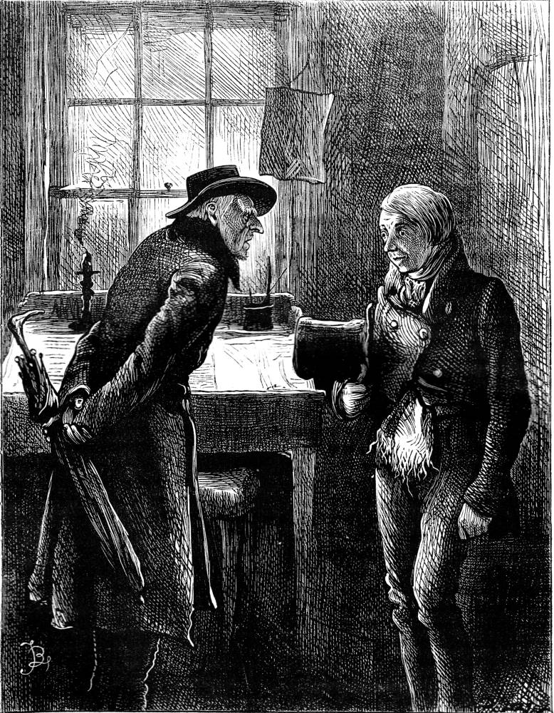 """""""It's not convenient,"""" said Scrooge. — illustration for Dickens's """"Christmas Books"""" in the ..."""