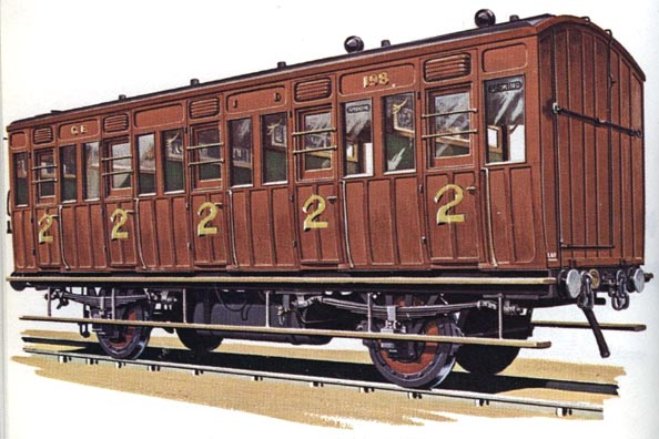 Second Class Suburban Carriage Great Eastern Railway