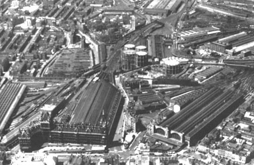 Aerial View Of St Pancras And King S Cross